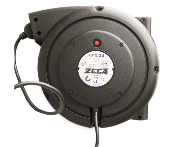 Катушка с электрическим удлинителем 15,5 м Zeca