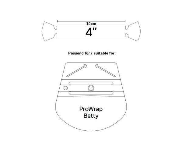Тефлонова накладка на ракель Betty Wing Yellotools
