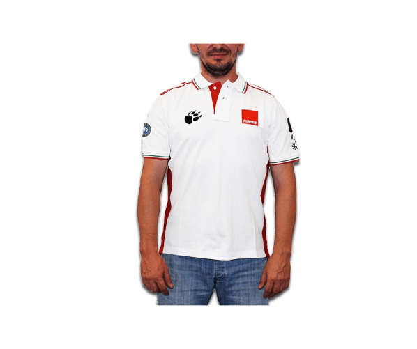 BigFoot Polo Racing White/Red XL
