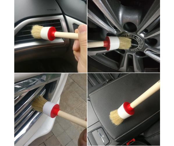 Набор щеток для интерьера и екстерьера  Detailing Car Brush Set - Boar's Hair