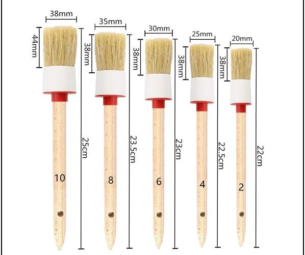 Detailing Car Brush Set - Boar's Hair DETAILER