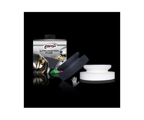 Ультрам'який ручний аплікатор для нанесення захисних покриттів Hand Puck Black 130*50 mm