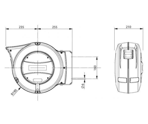 Катушка воздушного и водного шланга 10 мм Zeca