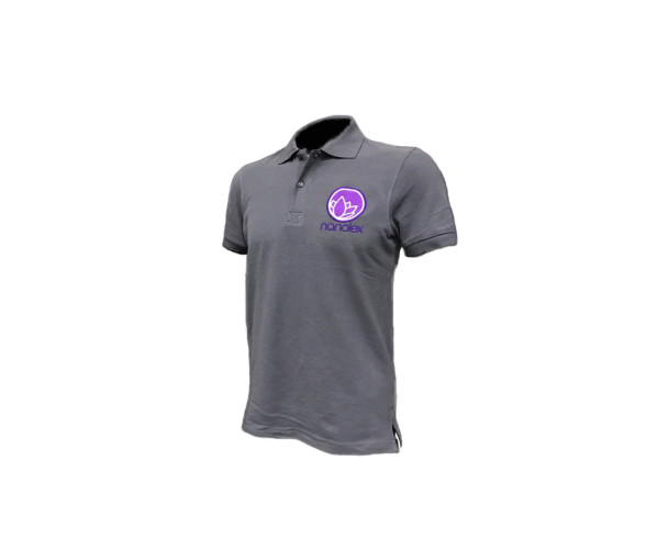 Microfiber Poloshirt S, Gray Nanolex
