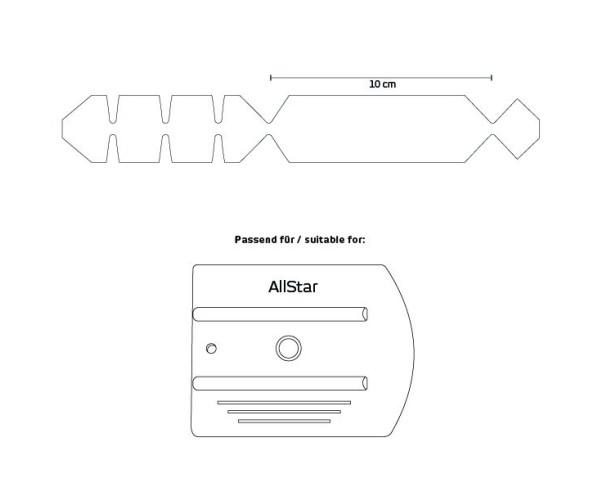 Ape T-Buffer AllStar Wing - self adhesive teflon pad Тефлонова накладка на ракель AllStar Wing Yellotools