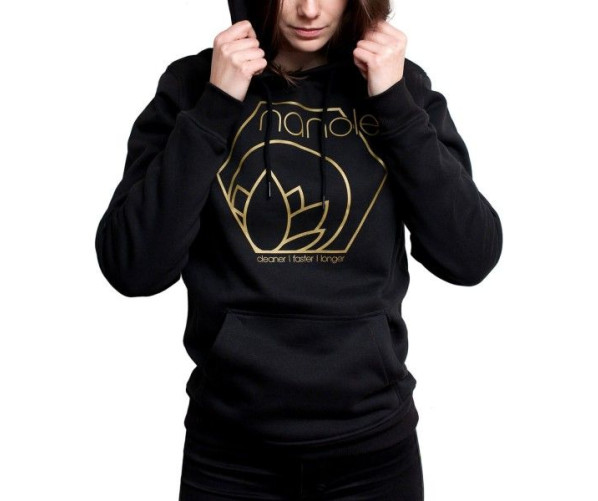 Hooded Sweatshirt Black L Nanolex