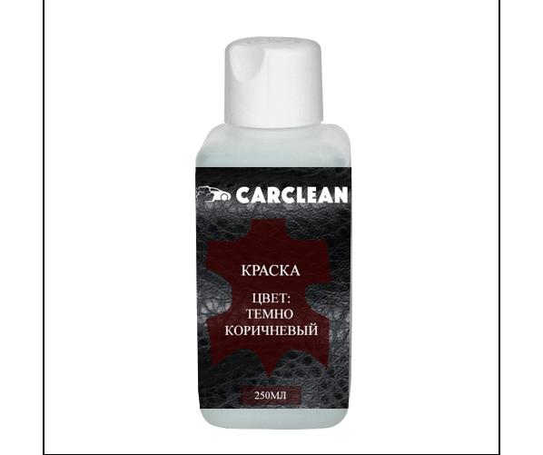 Жидкая краска для кожи Краска цвет Темно-Коричневый 250 ml
