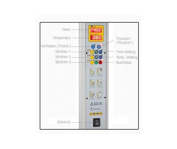 Інфрачервона лампа Infrared paint dryer 3 * 110 W Krauss