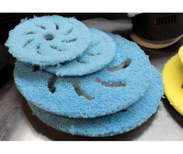 Абразивный микрофибровый круг для полировки Microfiber Polishing Pad Blue 130/150 мм