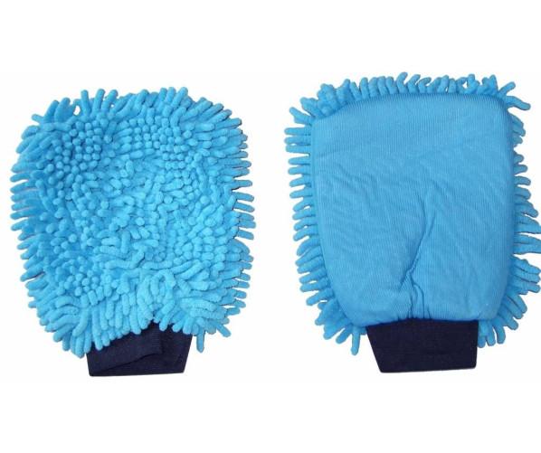 Варежка для мойки автомобиля 2 в 1 Washing Glove Microfiber Blue