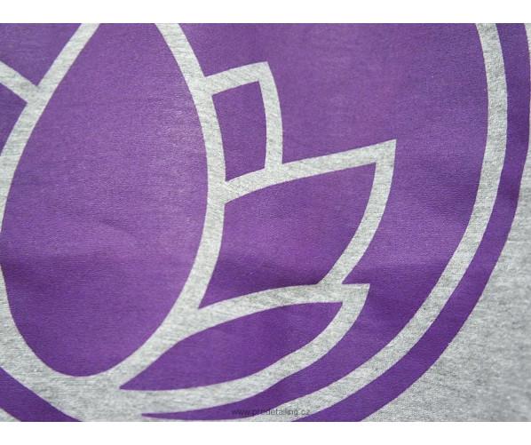 Hooded Sweatshirt M, Grey / Purple