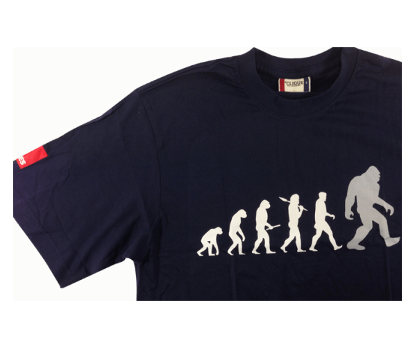 BigFoot T-Shirt Evolution Blue L