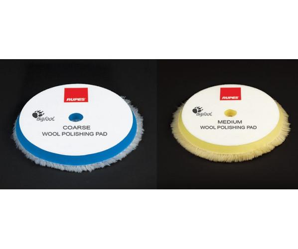 Абразивный полировальный круг 100 % шерсть Wool Polishing Pad Coarse 130/145 mm