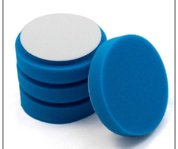 Velkro Finishing Foam Pad Blue 90/100 mm