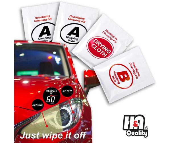 Headlight Restoration Wipes Kit H&A Quality