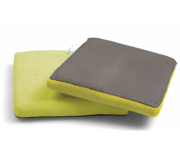 Варежка-автоскраб средней жесткости Autoscrub Clay Washmint Yellow Medium
