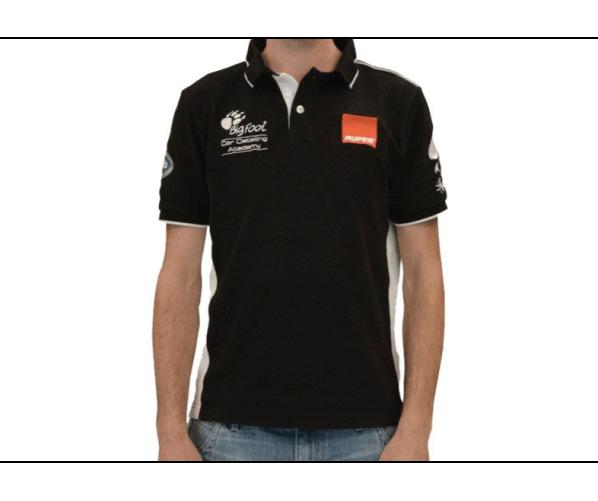 Ексклюзивна брендова сорочка-поло BigFoot Academy Polo black line XXL Rupes
