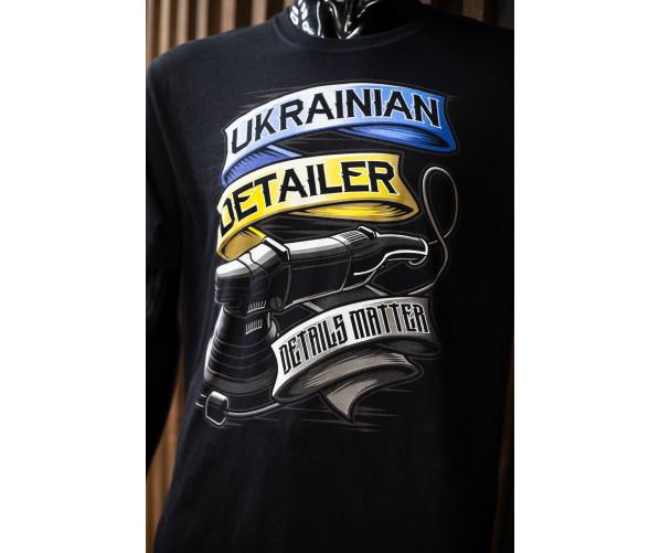 Футболка Ukrainian Detailer - желто-синий принт DETAILER