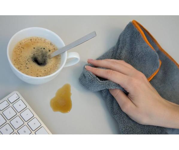 """Мікрофібровий рушник Microfibre Cloth """"Nano"""" Grey DeWitte"""