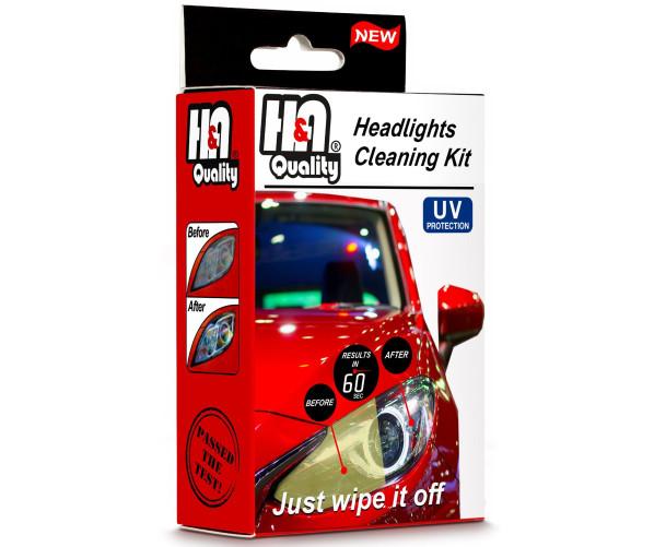 Набір для очищення і відновлення фар Headlight Restoration Wipes Kit