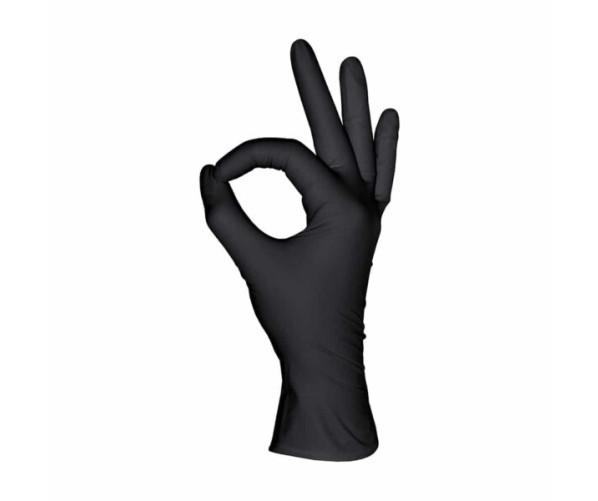 Чорні нітрилові рукавички  L