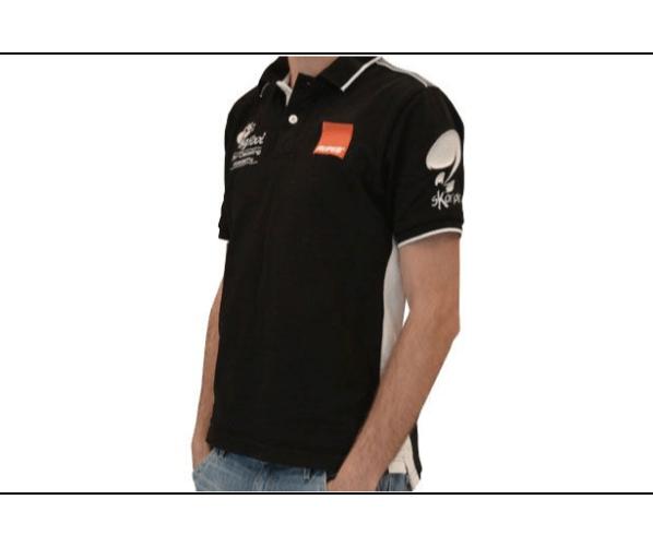Ексклюзивна брендова сорочка-поло BigFoot Academy Polo black line XXL