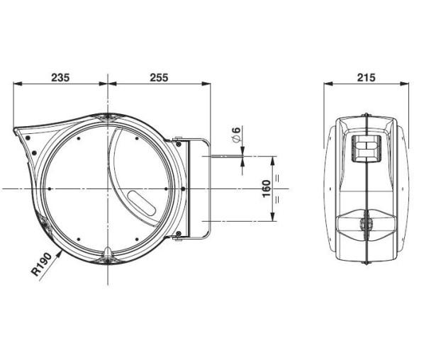 Котушка для повітряного шланга 16 м / Ø 10 мм Zeca