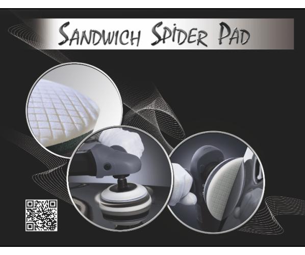 Абразивні Sandwich Spider Pad 75/90mm,  фото