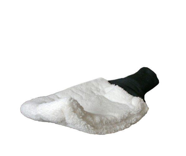 Мягкая варежка из овечьей шерсти для мойки автомобиля Glove Lambswool Clean White