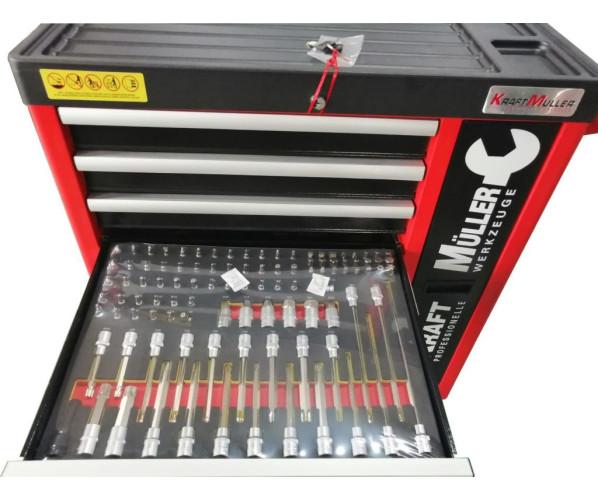 Многофункциональная тележка с набором инструментов (583 единицы) PCS Tool SET Kraft Müller
