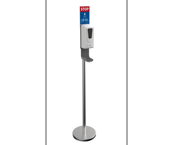 Дезинфектор для рук на стойке Disinfection column with no-touch dispenser alcohol OTTO 1L