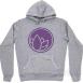 Hooded Sweatshirt S,  Grey / Purple
